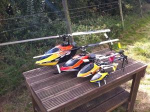 My squadron: T-Rex 550E, MSH Protos, Mini-Titan, T-Rex 250 3G